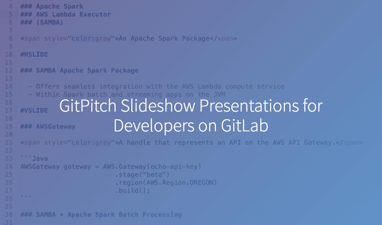 GitPitch Slideshow Presentations for Developers on GitLab