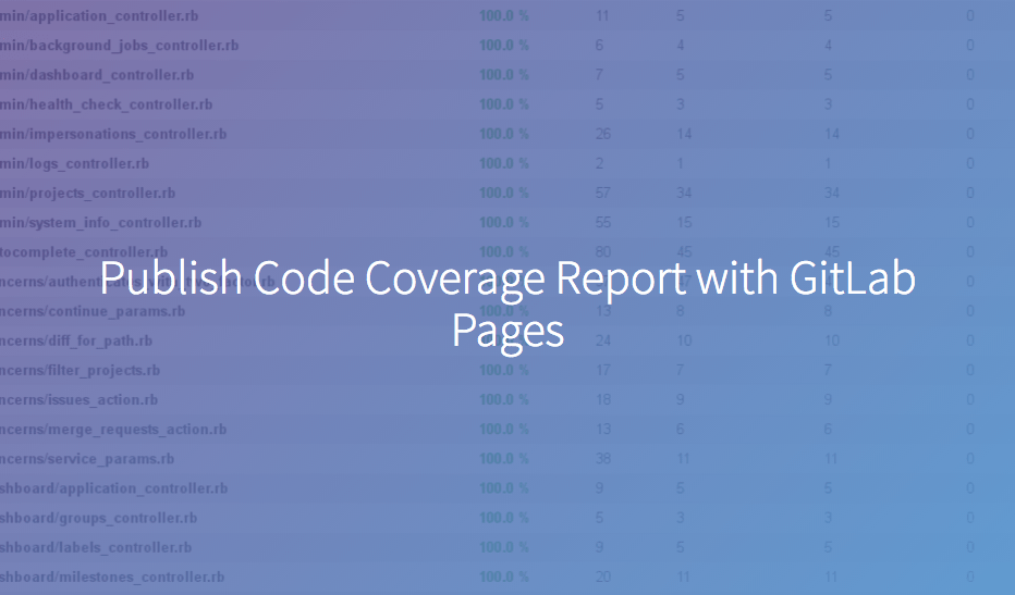 Publish code coverage report with GitLab Pages | GitLab